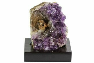 "Unique, 4.2"" Purple Amethyst Cluster On Wood Base - Uruguay For Sale, #99887"