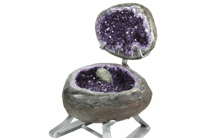 "12"" Amethyst ""Jewelry Box"" Geode On Stand - Gorgeous"