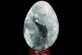 "Buy 3.7"" Crystal Filled Celestine (Celestite) ""Egg"" Geode - Madagascar - #100054"