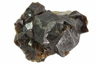 "1.6"" Garnet Cluster with Feldspar - Pakistan For Sale, #100394"