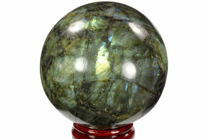 "4.2"" Flashy, Polished Labradorite Sphere - Great Color Play"