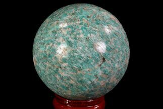 "2"" Polished Graphic Amazonite Sphere - Madagascar For Sale, #78749"