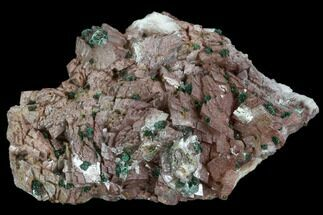 "2.4"" Malachite, Selenite and Ferroan Dolomite Association - Morocco For Sale, #104180"
