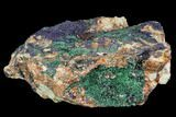 "10.2"" Large Malachite with Azurite Specimen (12 Lbs) - Morocco - #104066-1"