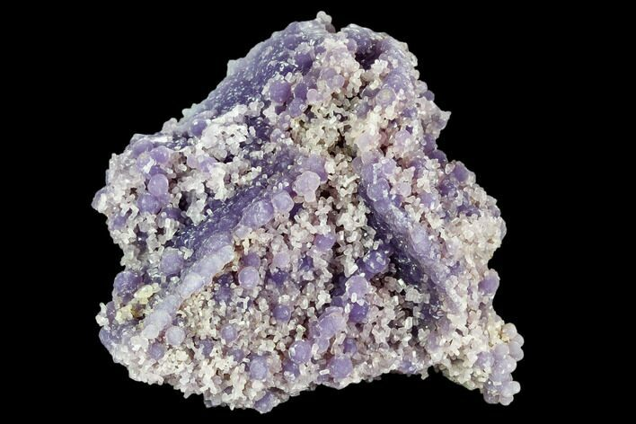 "3.4"" Purple, Botryoidal Grape Agate With Quartz - Indonesia"