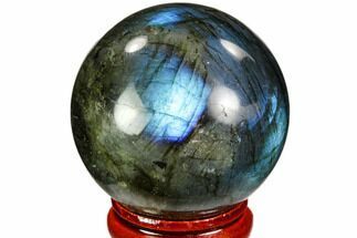 "Buy 1.65"" Flashy, Polished Labradorite Sphere - Great Color Play - #105748"