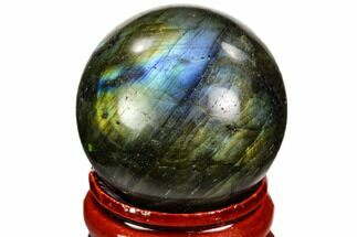 "1.2"" Flashy, Polished Labradorite Sphere - Great Color Play For Sale, #105752"