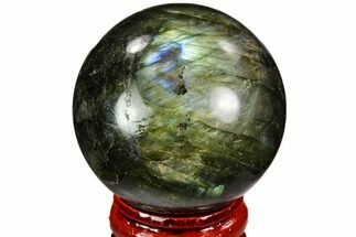 "Buy 1.7"" Flashy, Polished Labradorite Sphere - Great Color Play - #105760"