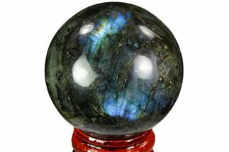 "1.85"" Flashy, Polished Labradorite Sphere - Great Color Play For Sale, #105761"