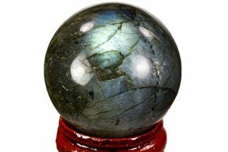 "Buy 1.4"" Flashy, Polished Labradorite Sphere - Great Color Play - #105769"