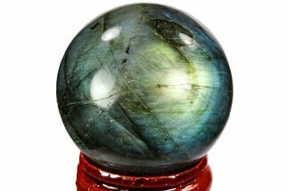 "Buy 1.45"" Flashy, Polished Labradorite Sphere - Great Color Play - #105772"