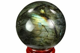 "1.9"" Flashy, Polished Labradorite Sphere - Great Color Play For Sale, #105737"