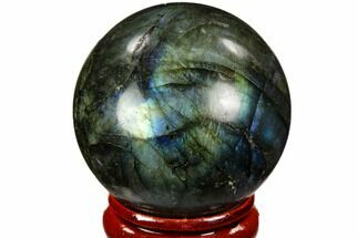 "1.5"" Flashy, Polished Labradorite Sphere - Great Color Play For Sale, #105740"