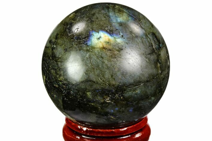 "1.6"" Flashy, Polished Labradorite Sphere - Great Color Play"
