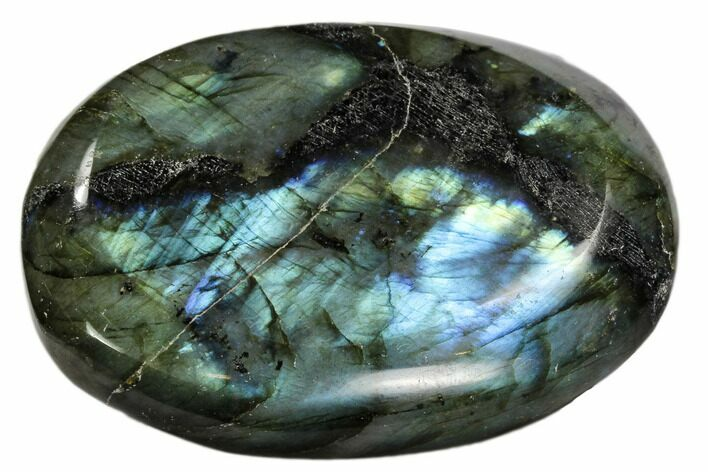 "3"" Flashy, Polished Labradorite Pebble - Madagascar"