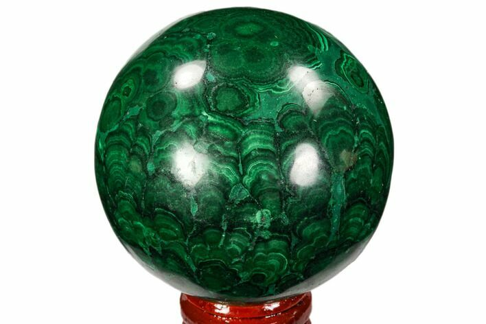 "Gorgeous 2.5"" Polished Malachite Sphere - Congo"