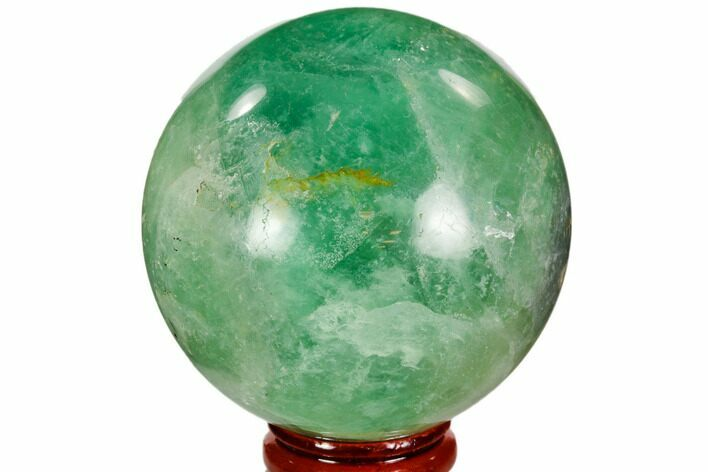 "2.5"" Polished Green Fluorite Sphere - Madagascar"