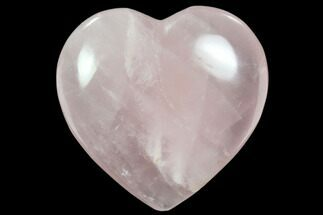 "3"" Polished Rose Quartz Heart - Madagascar For Sale, #63032"