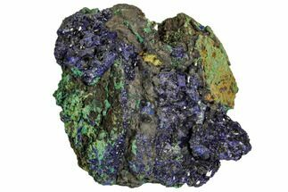 "3"" Sparkling Azurite Crystals With Malachite - Laos For Sale, #107192"