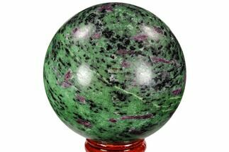 "Buy 2.6"" Polished Ruby Zoisite Sphere - Tanzania - #107233"