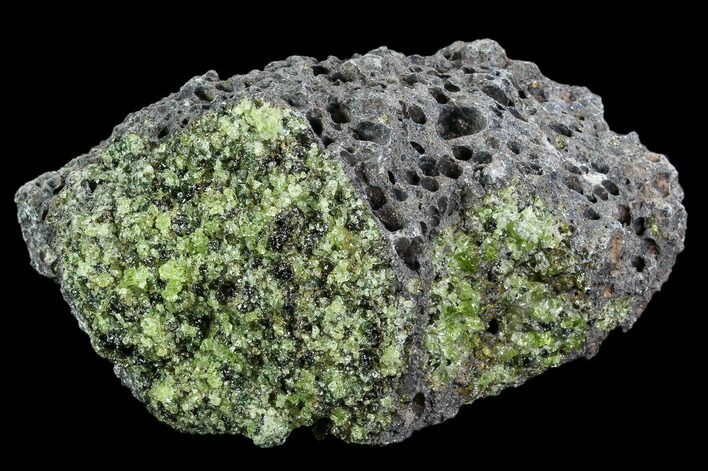 "4.1"" Peridot in Basalt - Arizona"