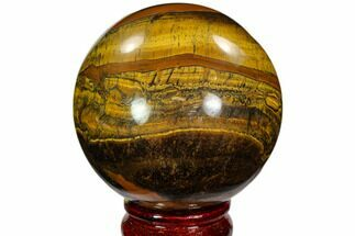 "Buy 3"" Polished Tiger's Eye Sphere - Africa - #107929"