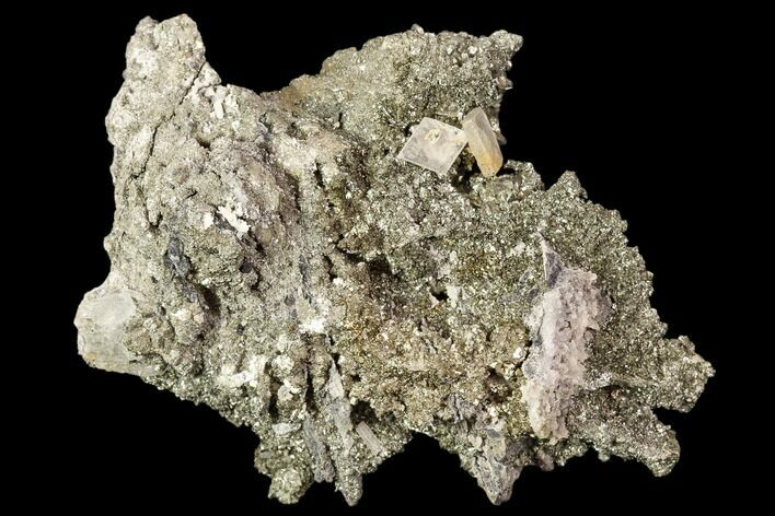 "3"" Marcasite Crystal Cluster with Barite - Morocco"