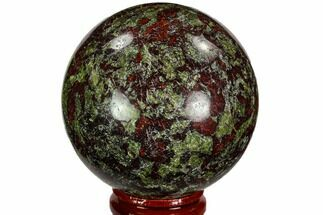 "Buy 2.35"" Polished Dragon's Blood Jasper Sphere - South Africa - #108562"