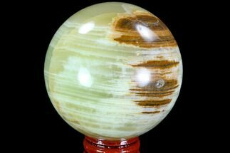 "2.75"" Polished, Green (Jade) Onyx Sphere - Afghanistan For Sale, #108575"
