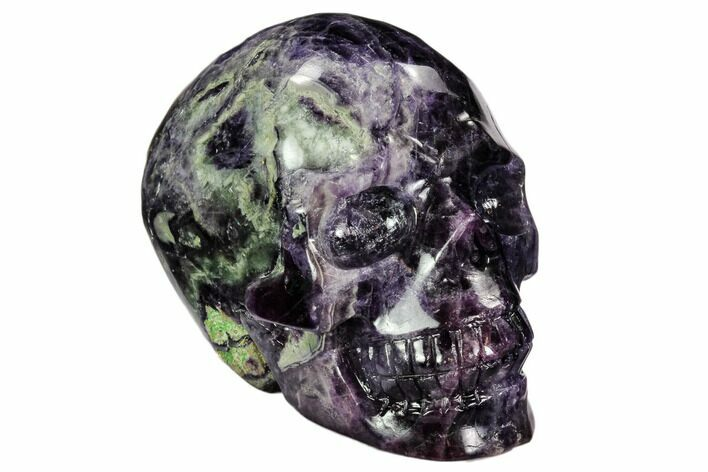 "3.7"" Carved, Purple & Green Fluorite Skull"