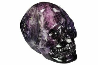 "2.3"" Carved, Purple Fluorite Skull - China For Sale, #108758"