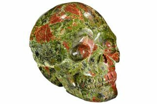 "Buy 2.5"" Carved, Unakite Skull - South Africa - #108766"
