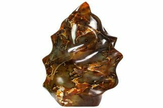 "8.3"" Polished Carnelian Agate ""Flame"" Sculpture - Madagascar For Sale, #108533"