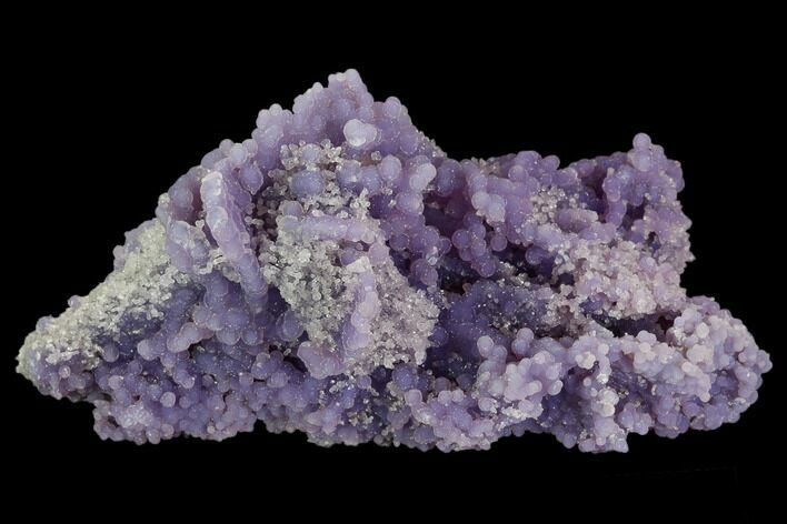 "5.2"" Purple, Botryoidal Grape Agate With Quartz - Indonesia"