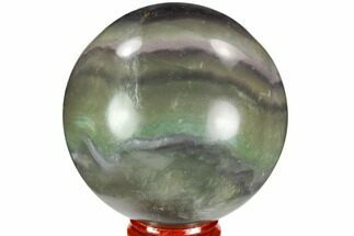 "2.65"" Colorful, Banded Fluorite Sphere - China For Sale, #109643"