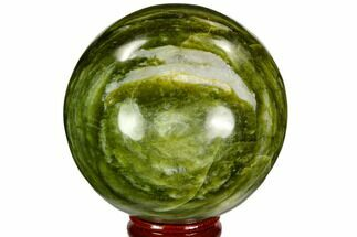 "2.7"" Polished Serpentine Sphere - Pakistan For Sale, #109694"