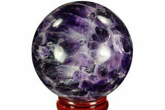 "2.2"" Polished Chevron Amethyst Sphere - Morocco For Sale, #110216"