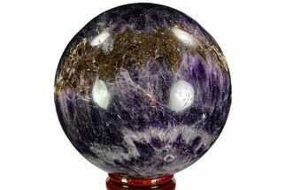 "2.8"" Polished Chevron Amethyst Sphere - Morocco For Sale, #110243"
