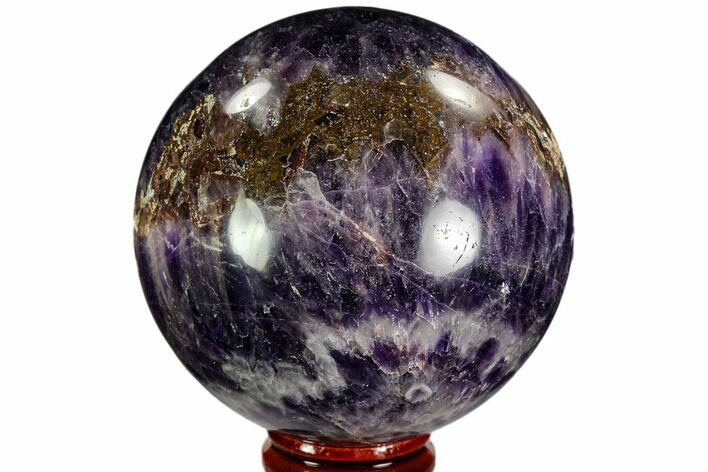 "2.8"" Polished Chevron Amethyst Sphere - Morocco"