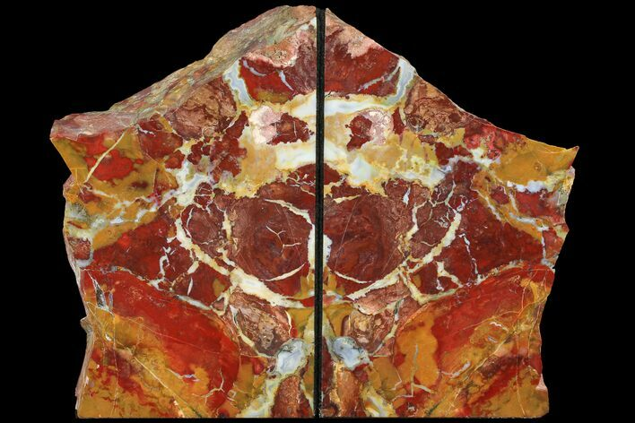 "7.8"" Red/Yellow Jasper Replaced Petrified Wood Bookends - Oregon"