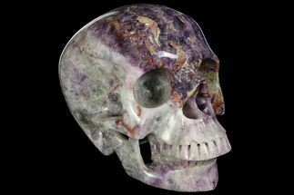 "Buy Massive 6.8"" Carved Purple Fluorite Skull - China - #111226"