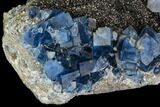 "4.8"" Blue Cubic Fluorite on Quartz - China - #111908-2"