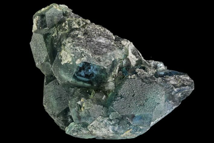 "2"" Green Fluorite Crystal Cluster - China"