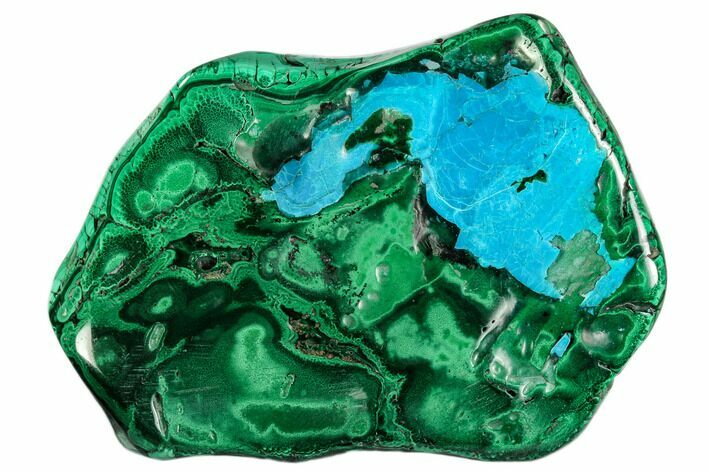 "4.8"" Polished Malachite Specimen - Congo"