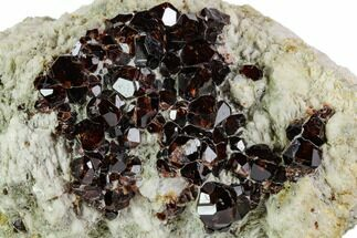 Garnet var. Spessartine, Quartz & Albite - Fossils For Sale - #112332