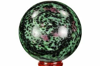"Buy 2.8"" Polished Ruby Zoisite Sphere - Tanzania - #112510"