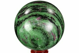 "Buy 3.15"" Polished Ruby Zoisite Sphere - Tanzania - #112516"