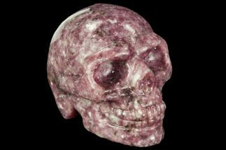 "1.9"" Polished, Purple Lepidolite Skull For Sale, #112385"