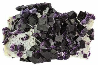 "Buy 4.3"" Dark Purple Cubic Fluorite Crystal Plate - China - #112387"