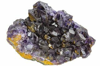"3.6"" Deep Purple Fluorite Crystals with Quartz - China For Sale, #112874"
